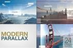AE模板:现代科技图文切换展示片头 Modern Parallax Slideshow