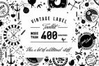 AE模板:400个复古文字标签动画元素合集包 Vintage Label Toolkit