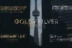 AE模板:漂亮金色粒子发散文字标题展示 Golden Titles