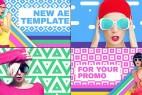 AE模板:流行时尚炫彩MG图文展示动画 Keep It Trendy