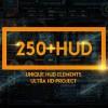 AE模板:250个HUD高科技信息化UI触控界面动画元素包