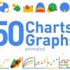 AE模板:50个MG元素图表生长动画  50 Animated Charts & Graphs