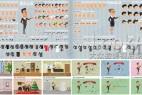 AE模板:二维卡通动漫人物角色MG扁平化场景动画元素合集