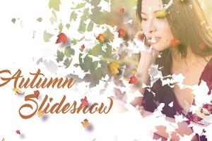 AE模板:落叶飘散图文展示动画 Autumn Slideshow 1