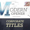 AE模板:企业商务文字标题动画 Modern Opener Corporate Titles