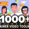 AE模板-MG动画卡通人物角色场景商品活动解说介绍片头(更新V3.4) Explainer Video Toolkit 3.4