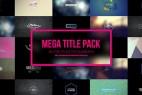 AE模板-120组4K创意卡通时尚栏目包装文字标题字幕条动画 Mega Titles 4K Project