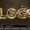 AE模板:金色粒子文字LOGO展示动画 Gold Silver Particle Logo Title