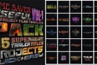 AE模板:25种超级英雄好莱坞电影震撼大气文字标题片头 25 SuperHero Trailer Titles Pack