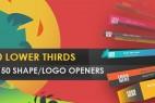 AE模板:多种现代时尚MG炫彩标题字幕条动画 LowerThird Shape Opener