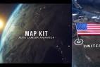 AE模板:三维地球世界各地军事国旗地图标注动画 Map Kit