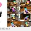 AE模板-咖啡馆餐厅手机场景合成跟踪实拍素材包 Cafe Restaurant Footage Mobile Mockup