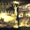 AE模板:小金人大气金色粒子活动年会颁奖典礼栏目包装 The Awards