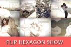 AE模板:多边形遮罩蒙板照片切换文字包装展示 Flip Hexagon Show