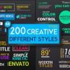 AE模版:200种精品文字标题字幕条标签排版动画 Titles Different Styles