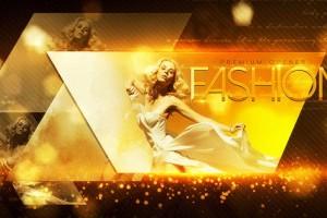 AE模板:大气金色时尚粒子图文展示 Fashion