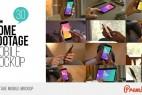 AE模板:手机IPAD平板电脑手指触控操作界面展示介绍 Home Footage Mobile Mockup