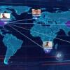 AE模板:科技感世界地图动画展示 World Map