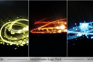AE模板:漂亮粒子线条LOGO片头 MultiStreaks Logo Pack