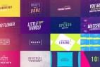 AE模板:50种创意文字标题排版动画 50 Creative Titles