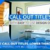 AE模板:房地产装修呼出文字标题字幕条动画 Real Estate Call Out Titles