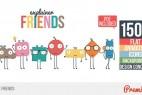 AE模板-动态卡通可爱小人解说场景MG动画 Explainer Friends