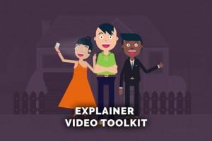 AE模板-扁平化卡通人物角色场景介绍片头MG动画 Explainer Video Toolkit