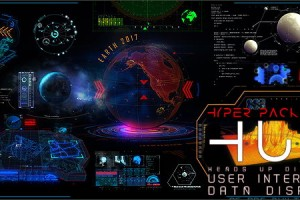AE模板-350+高科技三维全息投影HUD科幻电影游戏UI元素 HUD Hyper Pack 350