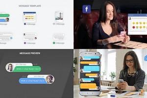 AE模板:手机信息聊天弹窗对话动画 SMS Messages Chat Notify Elements