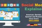 AE模板:媒体网络社交宣传MG动画 Social Media Explainer