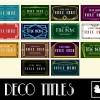 AE模板:20个艺术装饰文字标题动画 20 Art Deco Titles