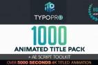 AE模板+脚本:1000+创意文字标题字幕排版动画工具包 Typopro-Typography Pack