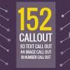 AE模板-152组科技感呼叫指示线文字图片介绍说明动画 152 Call-Out Titles