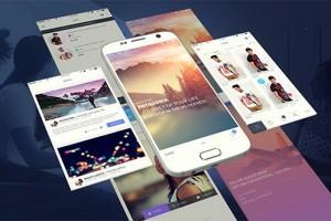 AE模板-安卓手机APP应用展示动画片头 Android App Presentation Template