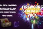 18组烟花高清视频素材(带通道)+AE工程 Fireworks