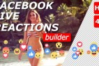 AE模板:可爱小表情弹幕动画 Facebook Live Reactions Builder