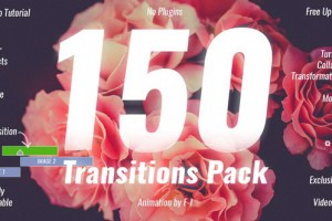 AE模板:150种个性转场效果 Transitions Pack