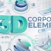 AE模板-三维科技感企业公司数据信息展示动画 3D Corporate Elements