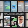 AE模板:手机短信社交APP对话弹窗气泡聊天弹窗对话框动画 Popular Messenger Builder v2.0