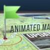 AE模板-地图路径箭头动画军事旅游图片地点展示工具包V3 Animated Map Path