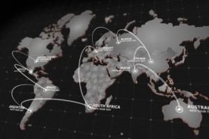 AE模板:三维世界地图定点连线动画包 World Map Kit