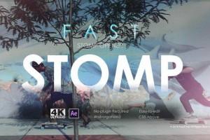 AE模板:快节奏闪现图文快闪展示  Fast Stomp Opener