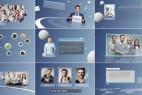 AE模板:现代简洁公司企业发展历程简介团队业务展示栏目包装