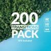 AE模板-200组冲击模糊扭曲图形遮罩视频转场 Transitions Pack