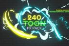 AE+Premiere模板预设:240组卡通手绘能量火焰闪电烟雾MG动画元素 240 Toon FX Pack