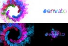 AE模板:多彩漩涡粒子LOGO标志片头 Colors of Particles Swirls Ident