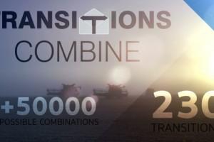 AE模板-230组火焰烟雾光效叠加像素化模糊冲击视频转场 Transitions Combine