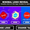 AE模板:5个迷你简洁图形动画LOGO片头 Minimal Logo Reveal
