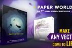AE模板-纸张剪纸卡通动画场景元素包 Paper World