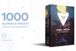Premiere模板-1000种视觉特效栏目包装动画 Video Library PR模板免费下载